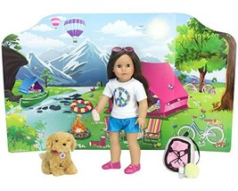 18 Inch Doll Playscene, Reversible Camping and Fashion Runway Scenes Per... - $20.75