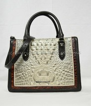 NWT Brahmin Small Camille Leather Satchel/Shoulder Bag in Hemlock Westwo... - $279.00