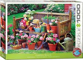 EuroGraphics (EURHR Garden Bench 1000Piece Puzzle 1000Piece Jigsaw Puzzle - $16.61