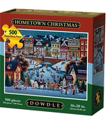 HOMETOWN CHRISTMAS - Traditional Puzzle - 500 Pieces - $28.95