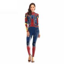Women's Spider-Man Superhero Cosplay Halloween Costume Jumpsuit Bodysuit - $29.95