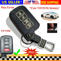 Genuine Leather Case Cover Fob Entry Skin for Toyota Highlander Corolla RAV4 Key - $16.97