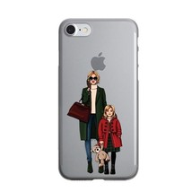 Cute Fashion Travel map Girl infant & mom Case for iPhone X 10 7 8 Plus ... - $14.40