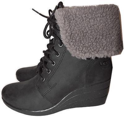 f5e22786f73 Ugg Australia Black Zea Shearling Wedge Lace and 50 similar items