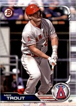 2019 Bowman Mike Trout #1 Los Angeles Angels - $1.25