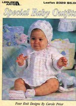 Leisure Arts 2329 Special Baby Outfits to Knit by Carole Prior - $7.99