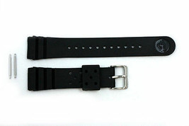22mm for SEIKO Z-22 Divers Heavy Black Rubber Watch Band Strap w/ 2 Spri... - $21.84