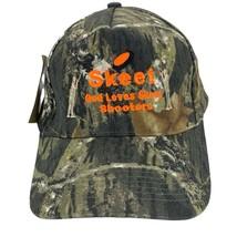 Mossy Oak Camouflage Strapback Hat Cap Skeet God Loves Skeet Shooters - $16.62
