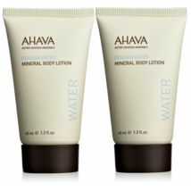 2 x AHAVA Dead Sea Mineral Body Lotion 1.3 OZ / 40 ML each Travel Size - $12.17