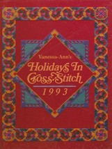 """Hard Covered Book - """"Holidays In Cross-Stitch 1993"""" - Vanessa-Ann - Gent... - $18.00"""