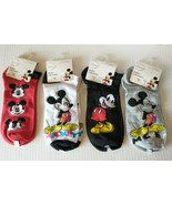 Disney Mickey Mouse Boys Kids Socks 4 Pairs Size 9-11 Shoe 4-10 Assorted... - $16.95