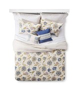 5 Piece Comforter Set Cream Floral Santa Cruz King - $79.43