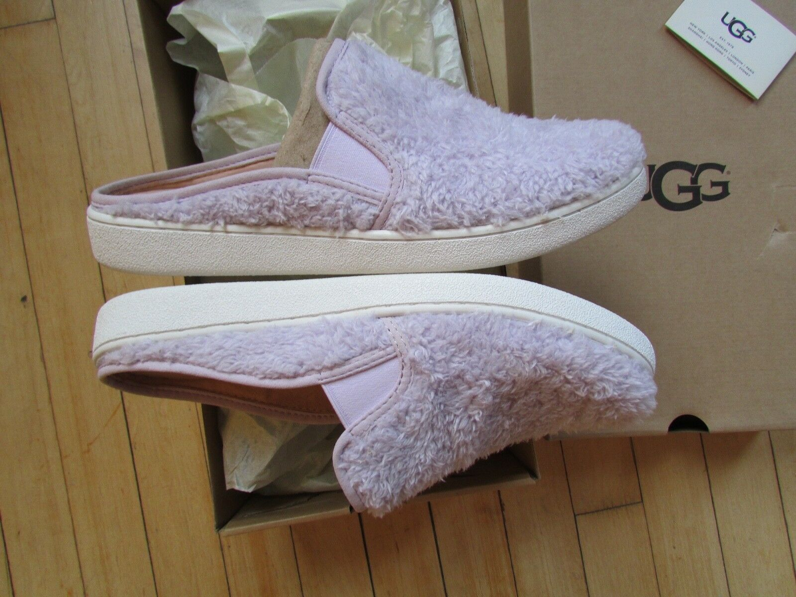 UGG Slippers Luci Slip On Sneakers Lavender fog Size 11 NEW image 2