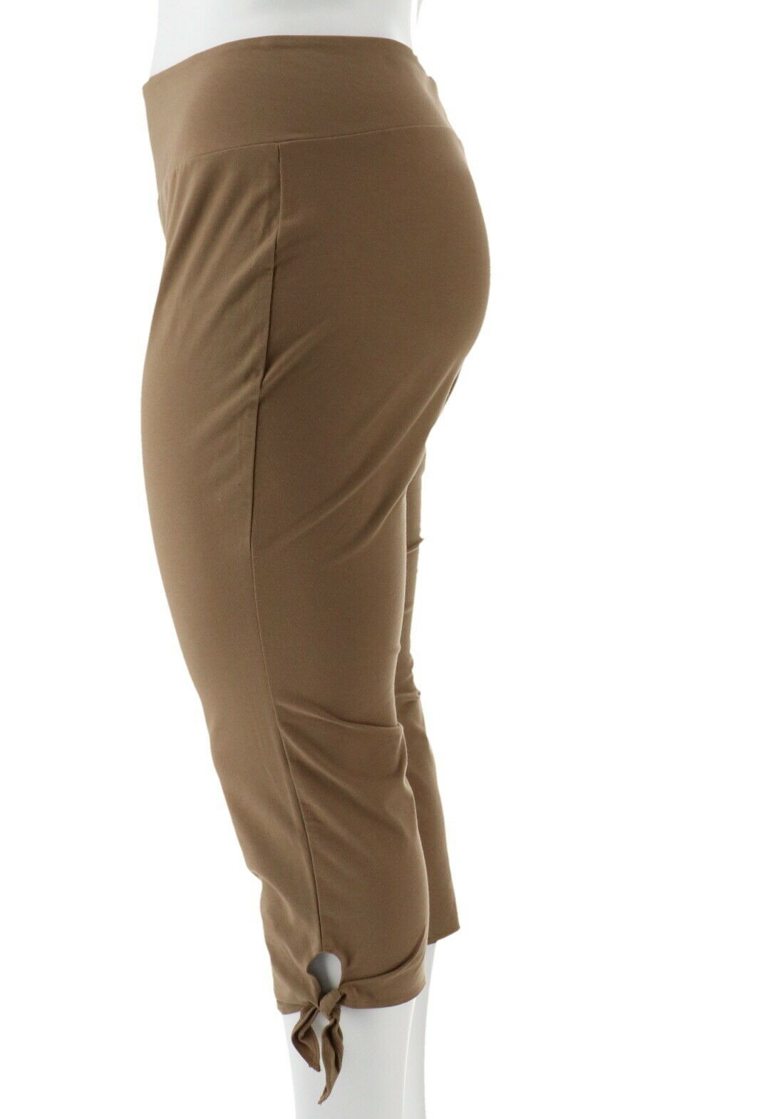 Women with Control Petite Tummy Control Crop Pants Safari Taupe PL NEW A290731