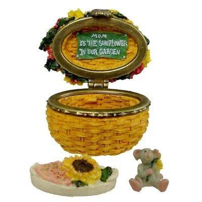 "Boyds Treasure Box ""Edmund's Sunny Basket w/Potter McNibble"" #82537- New- 2004"