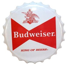 Budweiser Bow Tie Bottle Cap Bar - Reproduction Vintage Advertising Marq... - $26.72