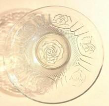 "Small Glass Heavy Duty Rose Design Fruit Bowl 7"" in Diameter Cute NEW - £8.33 GBP"