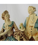 French Period Dress Dancing Couple Small Statue, Elegant Home Decor - $45.00