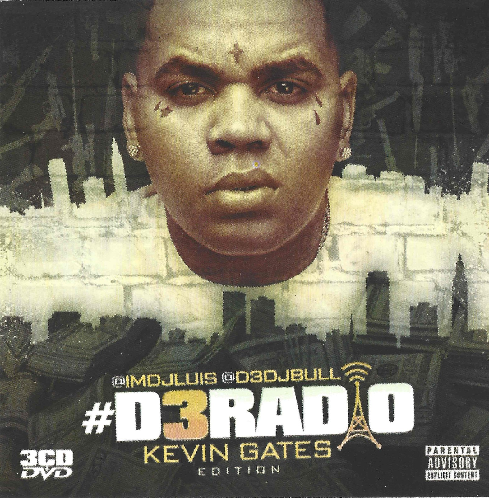 Primary image for Kevin Gates Mixtape - 3 CD + DVD with 60 Songs & 30 Music Videos!!!