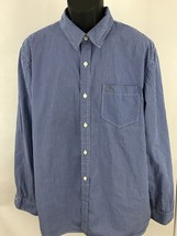 American Eagle Outfitters Men's Shirt Size XXL Athletic Fit Button Blue ... - $274,39 MXN