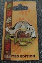 Disney Pins - Happy Thanksgiving 2008 - Mickey Minnie Donald - LIMITED -... - $8.77