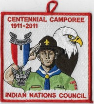1911-2011 Indian Nations Council Centennial Camporee patch - $4.95
