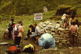 35mm Slide Annapurna Sanctuary Mountains Nepal Machhapuchhare Base Camp ... - $4.75