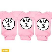 Sis 1 Sis 2 Sis 3 - Triple Twins Infant Lap Shoulder Bodysuits - $49.99