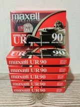 Maxell UR 90 Audio Cassette Tape 6 Pack 90 Minutes Normal Bias Brand New... - $19.99