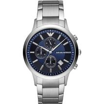 Emporio Armani AR11164 Blue Dial Stainless Steel Bracelet Men's Watch - $292.99