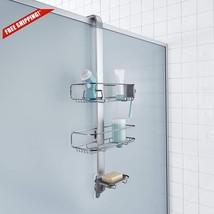 Adjustable Shower Door Candy Shampoo Soap Brush Storage Rack Shelves Org... - $66.24