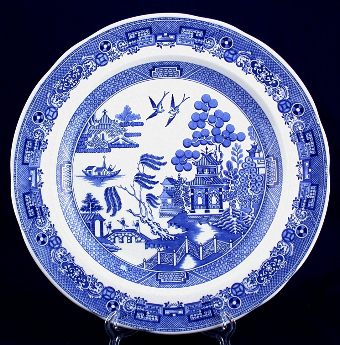 2 Spode Blue Room Collection Blue Willow Dinner Plates  sc 1 st  Bonanza & 2 Spode Blue Room Collection Blue Willow and 11 similar items
