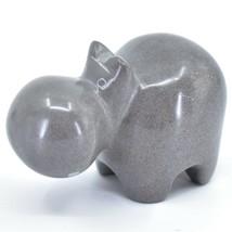 Crafts Caravan Hand Carved Natural Dove Gray Soapstone Hippopotamus Hippo Figure image 2