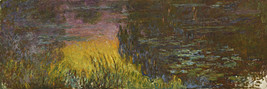 The Water Lilies Setting Sun Painting by Claude Monet Art Reproduction - $37.99+