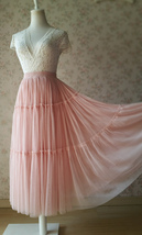BLUSH Tiered Midi Skirt Blush High Waisted Tiered Tulle Skirt Plus Size image 6