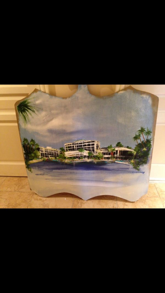 Primary image for colonnades hotel painting 4ft by 4 ft on wood