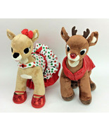 Build A Bear Rudolph Clarice Red Nosed Reindeer Set Outfit Plush Stuffed... - $46.26