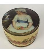 Vtg Great Britain Thorne's Toffee Metal Tin Box Simplicity Sir Joshua Re... - $13.64