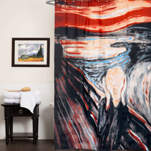 100% Polyester Fabric Shower Curtain with Edvard Munch The Scream Print ... - $26.09