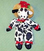 "Vannah's OMAYGA-BOVANNAH Christmas COW 23"" DECORATIVE Plush Straw Hat Bell  - $23.36"