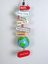 See The World Traveler Signs Christmas Ornament Bon Voyage retirement gift  - $17.81
