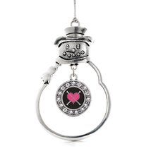 Inspired Silver Baton Twirling Circle Snowman Holiday Christmas Tree Orn... - $14.69