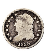 1835 Silver Capped Bust Half Dime H10C (Good, G Condition) - $1.023,12 MXN