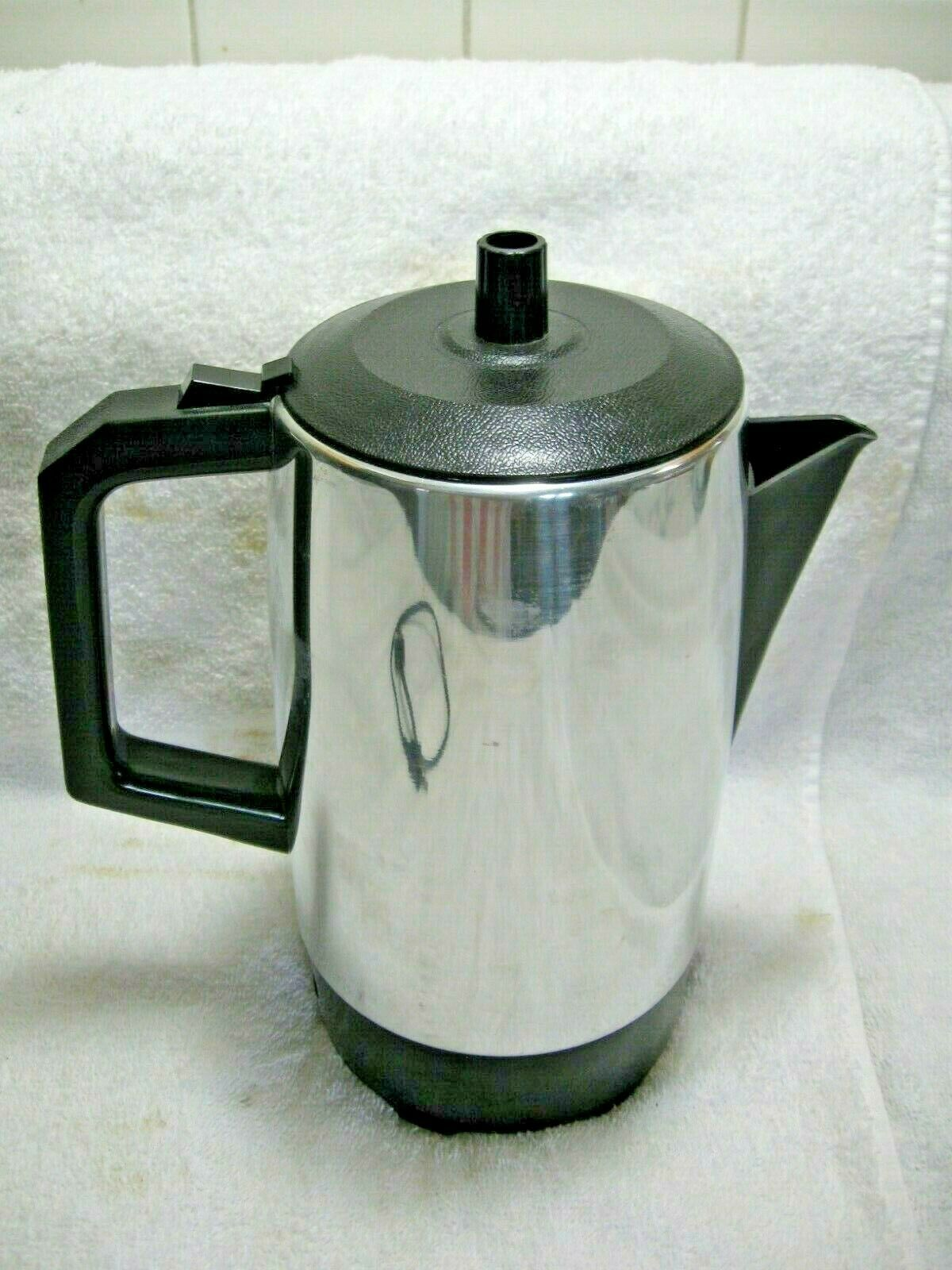 Vintage Collectible WEST BEND 5-9 Cup Electric Percolator Coffee Maker-Diner!!!