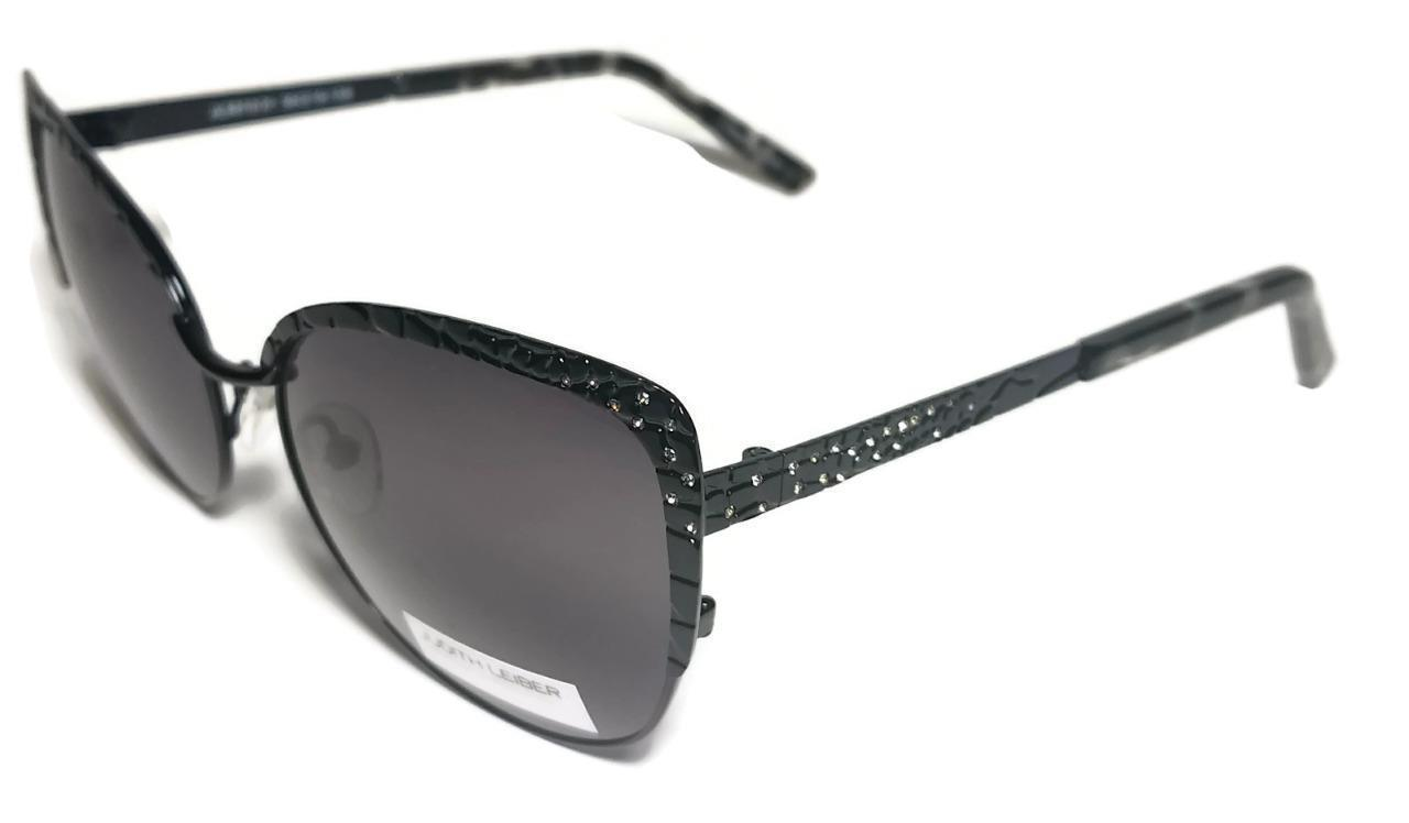 c9f8e41dc1 NEW JUDITH LEIBER Black Cat Eye Croc Print Sunglasses + Case JL5010 -  89.99