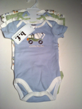 Brooks Fitch B.F. 4 PC One Piece Undershirts Set Sizes 3-6 OR 6-9 Months    - $12.95