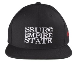 SSUR Empire State Lux Black New York NYC logo Baseball Snapback Hat NWT - £11.13 GBP