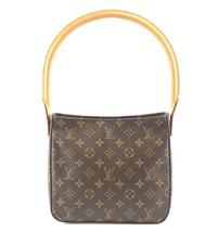 #32142 Louis Vuitton Looping Bucket Mm Tote Brown Monogram Canvas Should... - $500.00