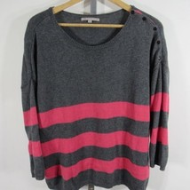 Gap Jersey Mujer M Gris Rosa a Rayas con Cashmere G84 - $13.15