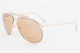 Tom Ford Magnus Gold / Brown Sunglasses TF193 28E - $185.22